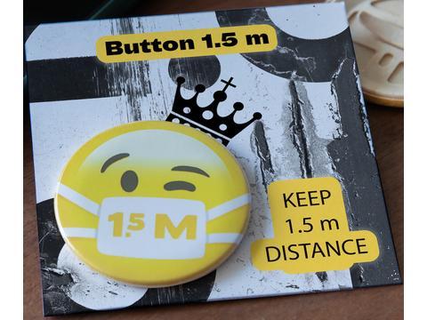 Keep Safe Button met communicatie kaartje