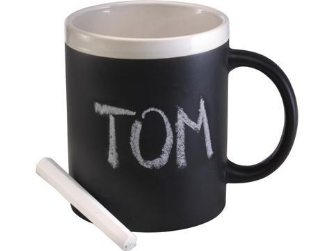 Stoneware mug with chalks - 300 ml