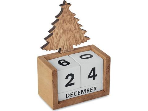 Christmas tree block perpetual desktop calendar