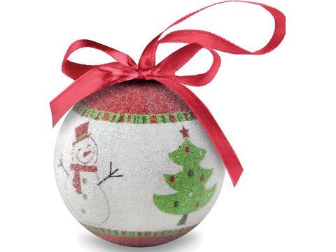 Boule de Noël et boîte