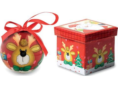 Boule de Noël et boîte.