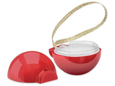Baume à lèvres forme boule de Noël