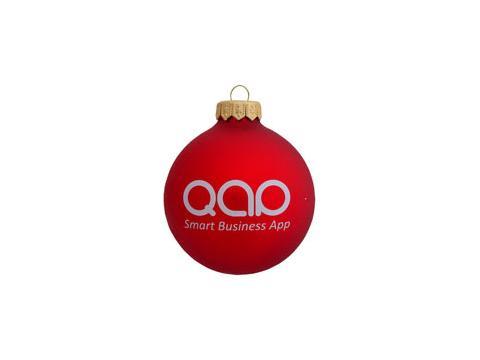 Christmas balls with logo