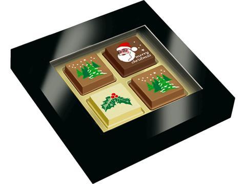 Kerstpralines in geschenkdoosje