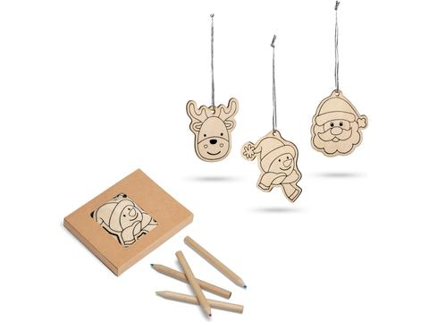 Christmas decorations with drawings