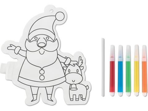 Ballon de coloriage père Noël