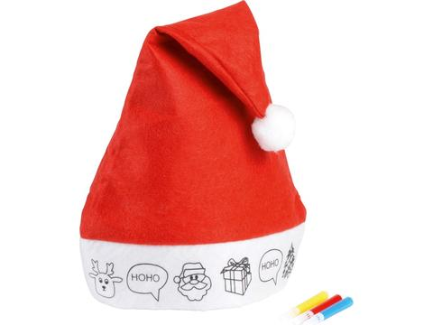 Christmas hat with design to colour