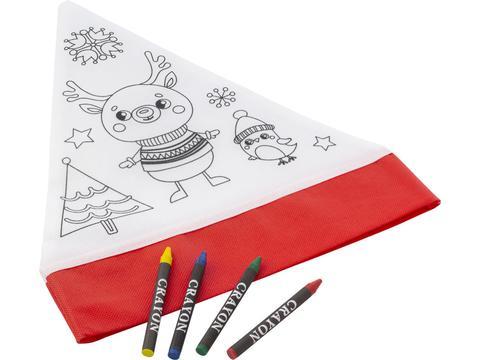 Chapeau de Noël avec 4 crayons