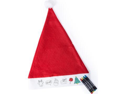 Kerstmuts voor kinderen - om in te kleuren