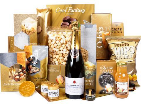 Kerstpakket Kwaliteit met Champagne