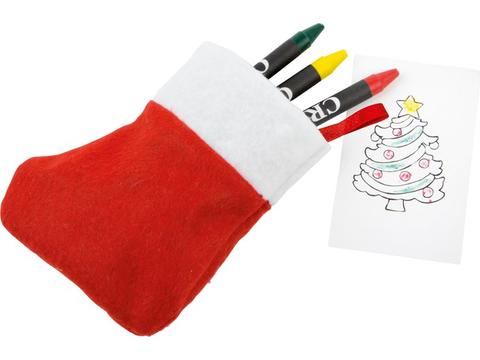 Christmas stocking drawing set Nicola