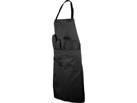 Keukenset met schort en ovenwant