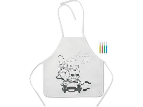 Kids apron with 4 markers