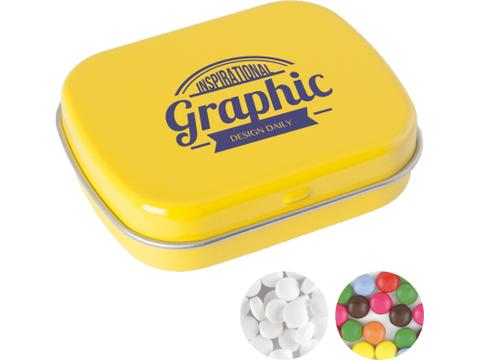 Small tin with mints