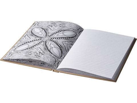 Fiddle adult colouring notebook