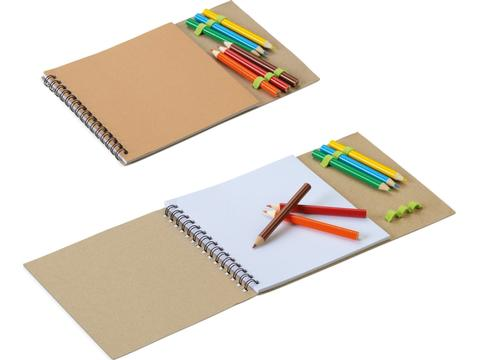 Kleurboek met kleurpotloden voor kinderen