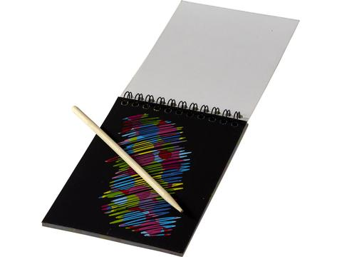 Colourful scratch pad