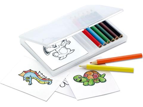 Wooden pencil colouring set