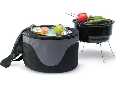 Barbecue koeltas met mini BBQ