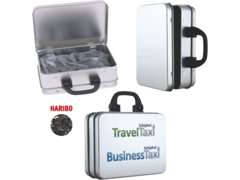 Boîte valise avec réglisse Haribo
