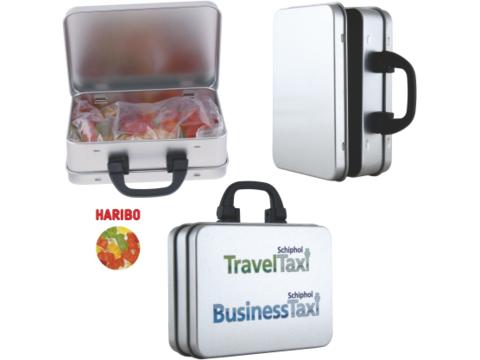 Kofferblik met Haribo gummi beren snoepjes