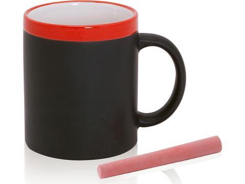 Mug with blackboard blackboard body 350 ml