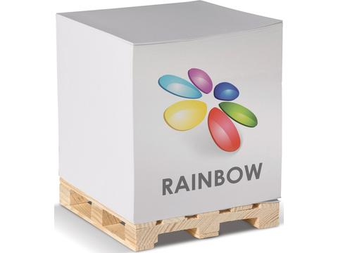 Cube pad with pallet