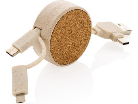 Kurk 6-in-1 oprolbare kabel
