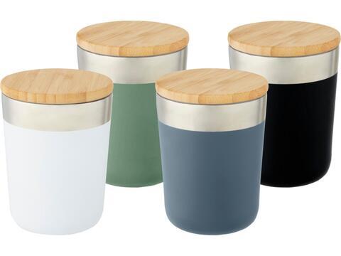 Lagan koperen vacuüm geïsoleerde beker - RVS + Bamboe - 300 ml
