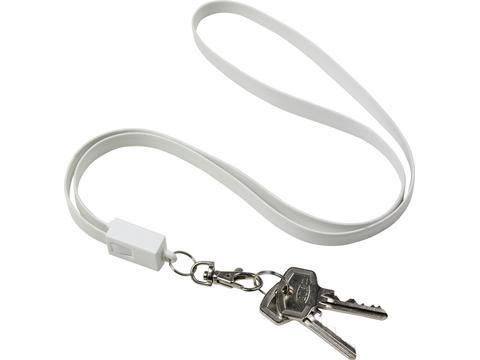 TPE lanyard and charging cable in one
