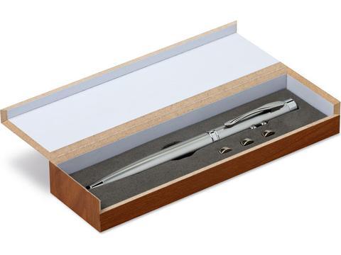 Laser pointer in wooden box