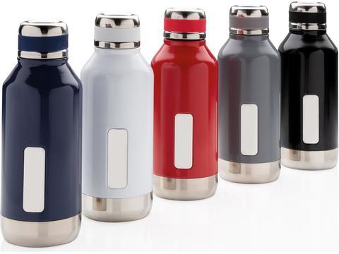 Leak proof vacuum bottle with logo plate - 500 ml