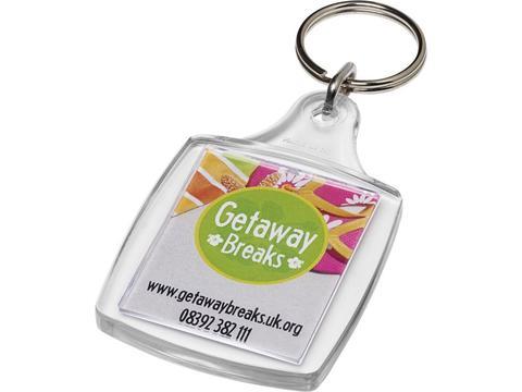 Porte-clefs plastique Leor avec attache en métal