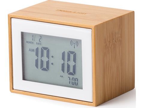 Lexon Bamboo alarm clock