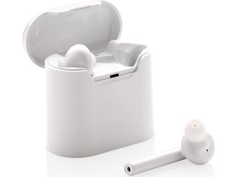 Ecouteurs sans fil dans un boitier de charge Liberty