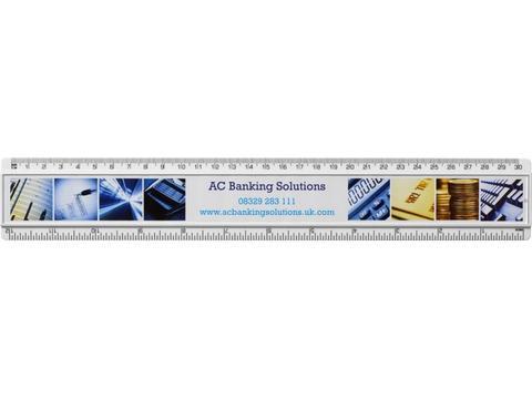 Liniaal met inlay voor personalisatie 30 cm