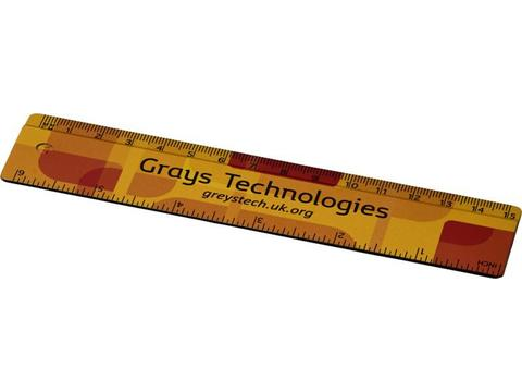 Terran 15 cm ruler with 100% recycled plastic