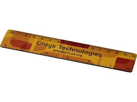 Liniaal van 100% gerecycled kunststof 15 cm