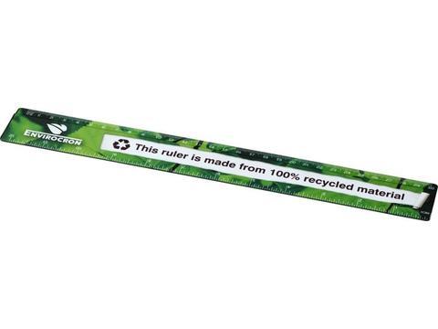 Liniaal van 100% gerecycled kunststof 30 cm