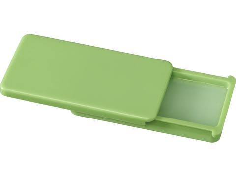Lip gloss in flat case