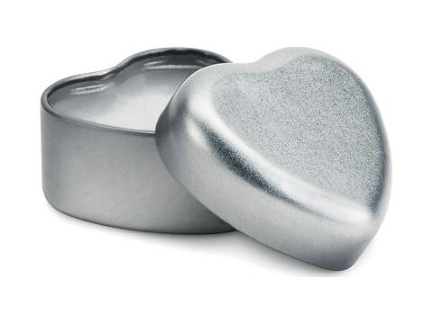 Lip Balm in heart shape tin