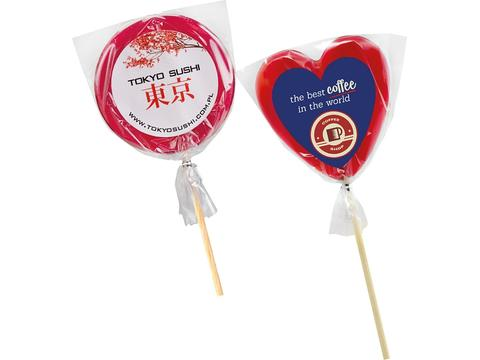 Lollipops with label
