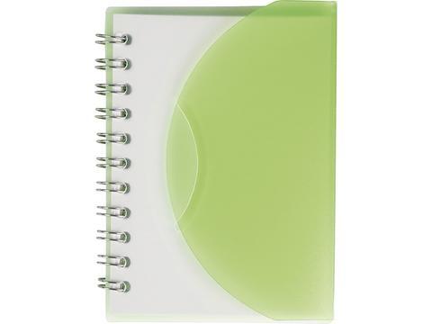 Klein notitieboekje met hoes