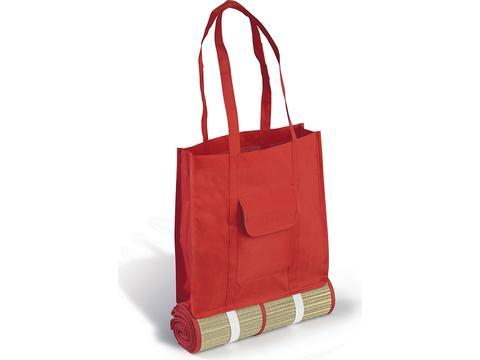 Natte en paille avec sac