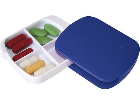 4 Compartments sliding pillbox