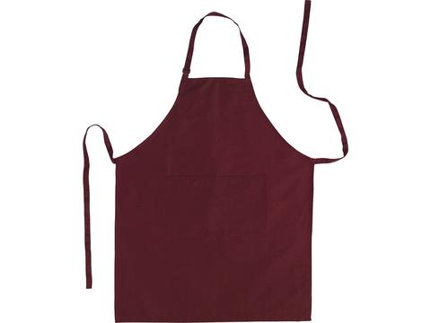 Apron with adjustable neck clasp
