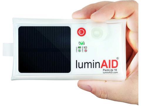 Luminaid lichtbron op zonne energie