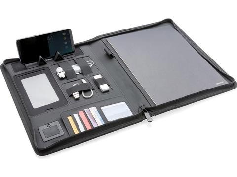 Luxe A4 portfolio met draadloze oplader voor smartphone