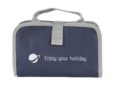 Toiletry bag luxe with velcro strap 2 compartments