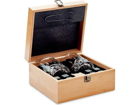 Luxe whiskey set in bamboe giftbox